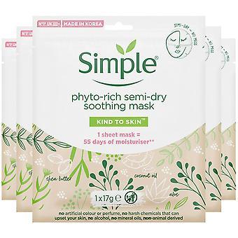 5x simple soothing fito-rico máscara de hoja semi-seca con manteca de karité y aceite de coco