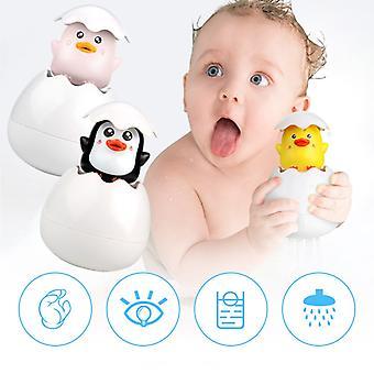 Baby Badning Legetøj Kids Cute Duck Penguin Egg Spray Sprinkler Badeværelse Overbrusning Shower Svømning Vand Legetøj Kids Gift