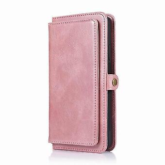 Multifunktionale Leder Brieftasche Fall für iPhone 12 Pro Max 6.7 - Roségold