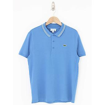 Lacoste Tipped Logo Polo - Blue