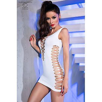فستان قصير سلس CR4335 أبيض