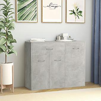 vidaXL Sideboard Concrete grey 88×30×70 cm chipboard