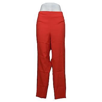 Vince Camuto Women's Plus Pants Cotton Doubleweave Vented Red A347541