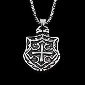 Medieval cross shield knights templar necklace