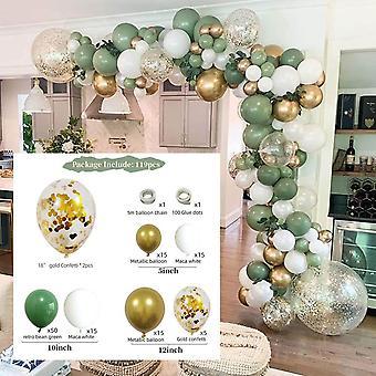 حفلة عيد ميلاد حفلة عيد ميلاد بالونات الزينةالجينز 119pcs الأفوكادو الأخضر