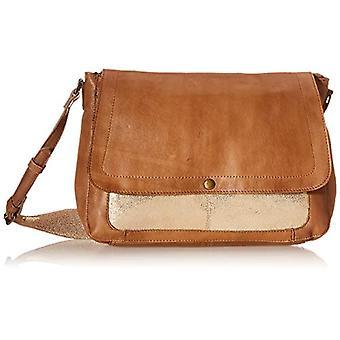 PIECES PCGETTE Leather Cross Body FC, Women's Folder Bag, Coconut Details, Gold Color, Keine Angabe