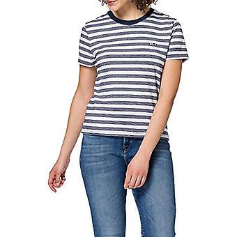 Tommy Jeans TJW Tommy Classics Stripe Camiseta, White Stripe/Twilight Navy, XXS Woman