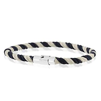Skipper 8161 - Magnetic braided nylon bracelet, color: blue/white and stainless steel, color: blue/white., cod. MG(1)
