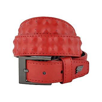 Lowlife Cover Up schlanke Ledergürtel in rot
