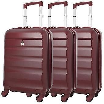Aerolite (55x35x20cm) bagage à main léger en coque dure (ensemble x3)