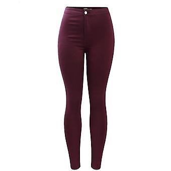 Elastic Denim Skinny High Waisted Jean