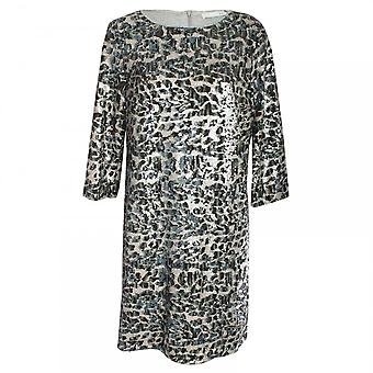 Oui Sequin Long Sleeve Dress