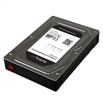 2,5 bis 3,5 SATA Aluminium-Festplattenadapter-Gehäuse mit SSD / HDD-Höhe bis zu 12,5 mm