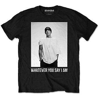 Eminem - Whatever Men's Large T-Shirt - Black
