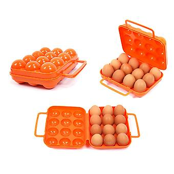 12 grids draagbare picknick camping BBQ levering plastic eierdoos container drager