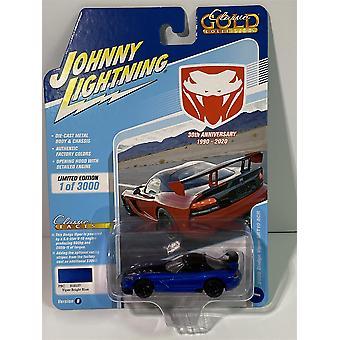 2008 Dodge Viper SRT10 ARC Viper Bright Blue 1:64 Johnny Lightning JLCG021B