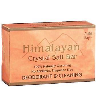 Aloha Bay Himalayan Bath Salts and Scrubs Crystal Bath Bar Unscented, 9 oz
