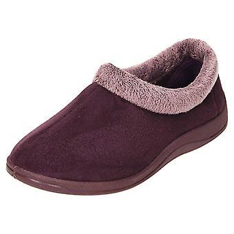 JWF Slippers Memory Foam Full House Shoe Purple