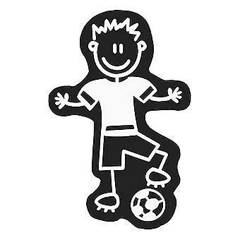 Bil klistermärke familj män fotboll