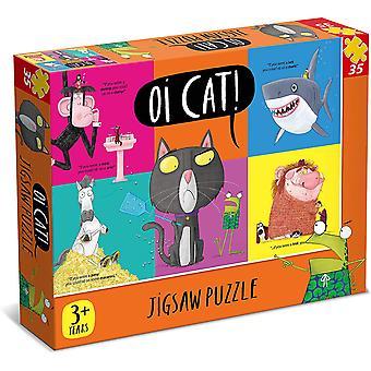 Oi 7315 Cat 35 Piece Jigsaw Puzzle, Orange