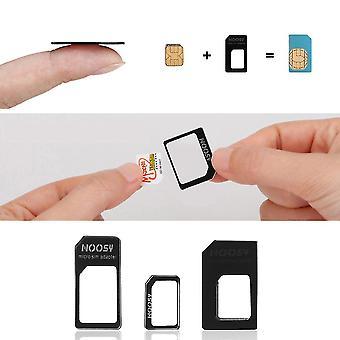 3 em 1 Nano Sim para micro-padrão adaptador adaptador de microsim microsim para iphone 5