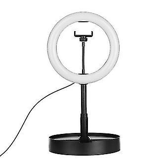 Luz de anillo LED portátil de 10 pulgadas con soporte de luz ajustable para el soporte del teléfono móvil