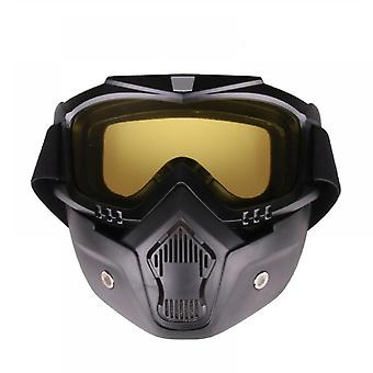 Motorcycle Riding Goggle Glass With Removable Face Mask