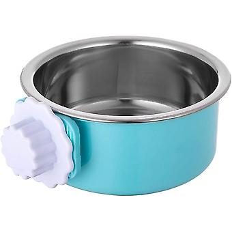 Crate Dog Bowl, Stainless Steel Removable Hanging Food Water Cage Cup
