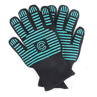 Extreme Heat Resistant Bbq Oven Safety Gloves Certified For Kitchen(Green)