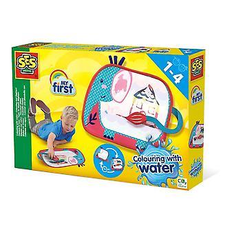 Mon premier coloriage pour enfants avec tapis de aquarelle Elephan