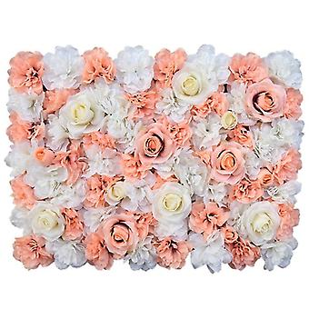 60X40cm artificial flowers diy wedding decoration flower wall panels silk rose flower pink romantic wedding backdrop decor