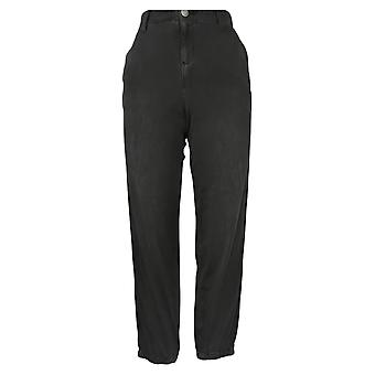 Skinnygirl Women's Pants Utility Jogger With Contrast Trim Black 672192
