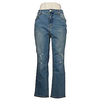 G van Giuliana Dames Jeans Vintage Straight-Leg Jean Blue 744856