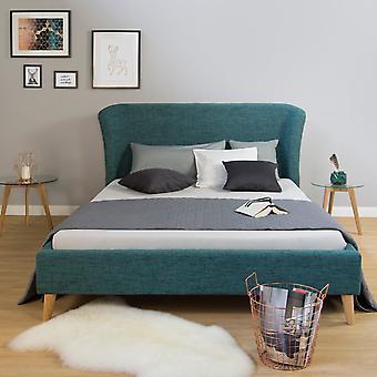Bettgestell - Plattform - Betten - Modernes blaues Holz 212 cm x 150 cm x 36 cm