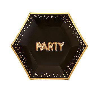Glitz - Glamour Black & Aranylemez - Közepes - Party
