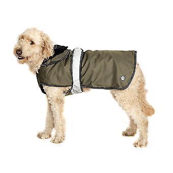 Dog apparel 2 in 1 khaki dog coat 55cm 22''
