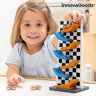 Science exploration sets wooden track with ramps for car wimai 4 pieces