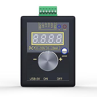 Generador de señal analógico 0-5v 0-10v 4-20ma con voltaje ajustable de bolsillo de batería recargable