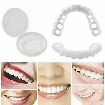 2pcs Smile Snap On False Tooth Dental Veneers Dentures Fake Teeth Cover