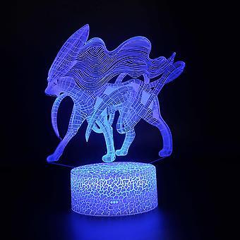 Belita Amy 3d Illusion Lampe 7 Couleurs Changement Optique Touch Lumière Usb Et Télécommande Art Déco Faire Une Atmosphère Romantique Noël Naissance de la Saint-Valentin