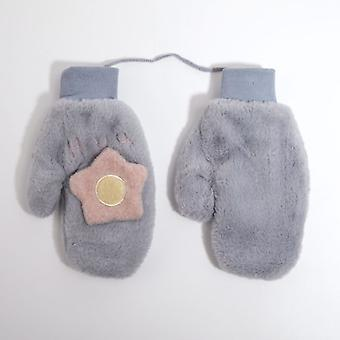 Fashion Winter Cloth Plush Korean Lovely Flower Girl Heart Riding Warm And Cold Gloves