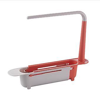 Telescopic Sink Holder Expandable Kitchen Sink Organizer Rack Sponge Caddy Adjustable Caddy