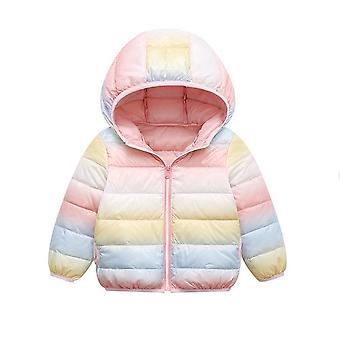 Vestes puffer rainbow Warm Down Jackets pour enfants