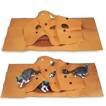 Katzenlabyrinth, Spielmatte für Haustiere, Trainingsmatte Katzenstreumatte 120 90cm