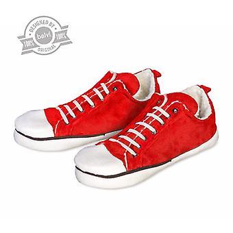 Huset sko tøfler i sneaker design rød størrelse 42-44.