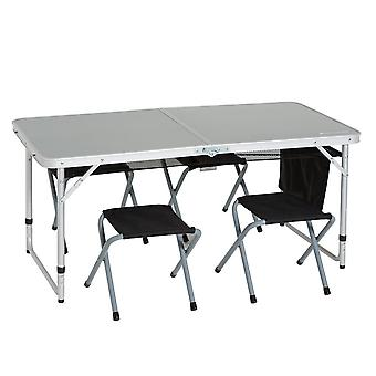 New Eurohike 4 Person Picnic Table Camping Furniture Silver