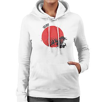 Red Sun Monkey D Luffy One Piece Women's Hooded Sweatshirt