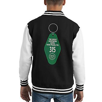 Twin Peaks Great Northern Key Chain Room Kid's Varsity Jacket