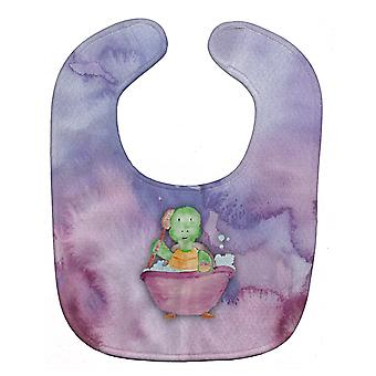 Carolines trésors BB7344BIB tortue bain bavoir bébé aquarelle