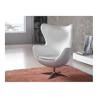 Schuller Egg Armchair, White Syntheti